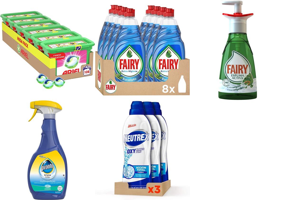 Ariel, Fairy y más: chollazos de hoy en Amazon en los mejores aliados de limpieza