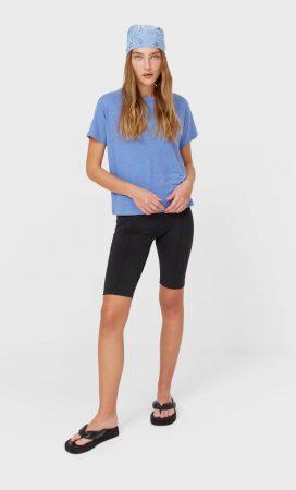 camiseta basica stradivarius
