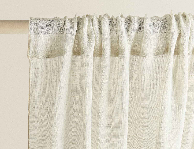cortinas de lino de Zara Home