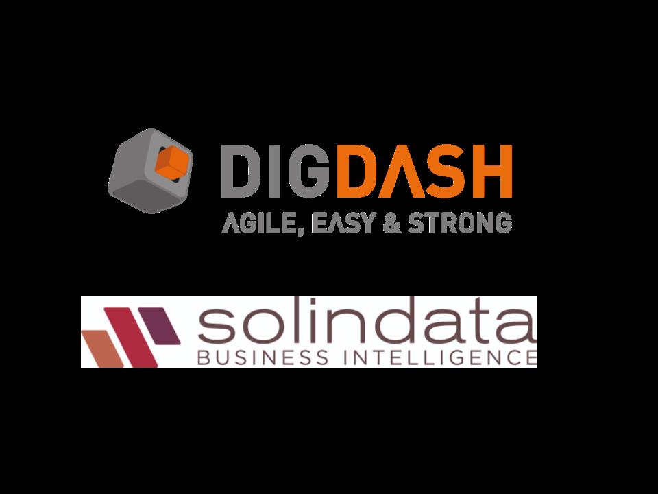 DigDash, un referente del BI en Francia, firma un acuerdo de colaboración y distribución con Solindata