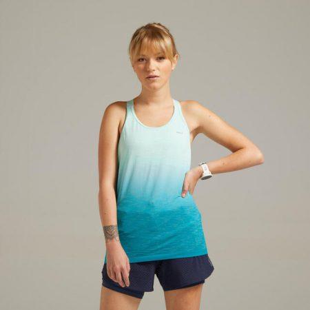 Camiseta sin mangas kiprun care mujer verde sujetador integrado Decathlon