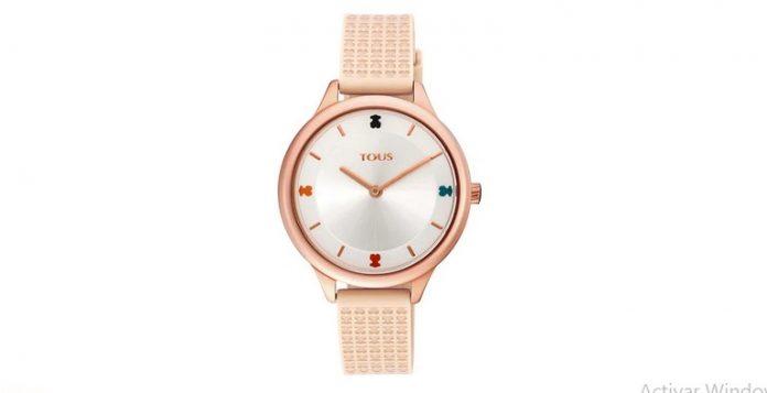 Reloj Tous Tarta mujer correa de silicona nude, 900350115.