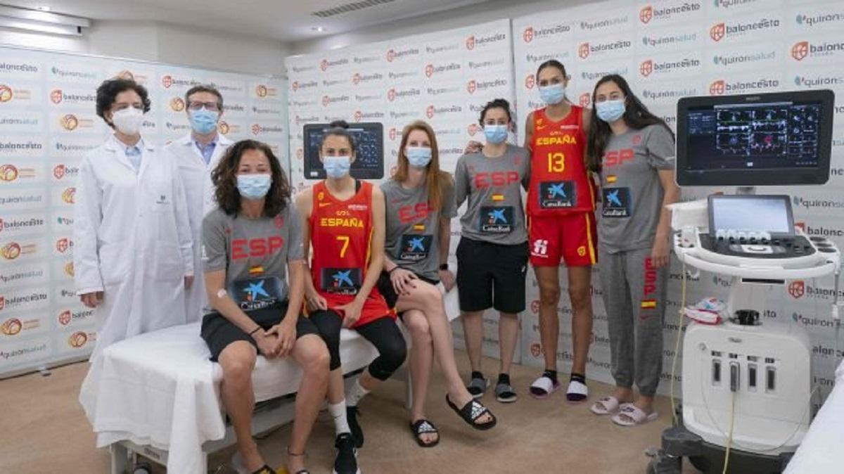 La Fundación Jiménez Díaz realiza el reconocimiento médico a la Selección Española de Baloncesto femenina de cara al Eurobasket y a los JJOO de Tokio