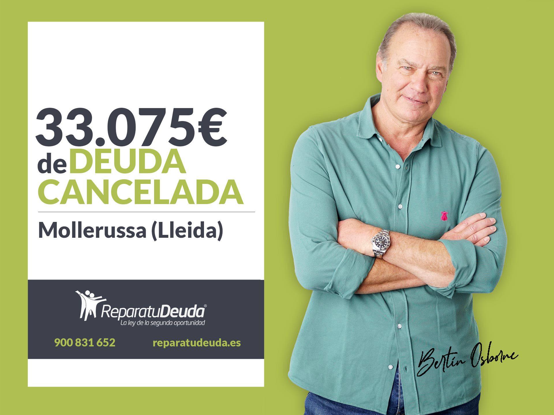 Repara tu Deuda Abogados cancela 33.075€ en Mollerussa (Lleida) con la Ley de Segunda Oportunidad