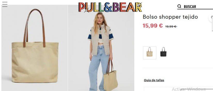 Bolso shopper tejido- Pull&Bear