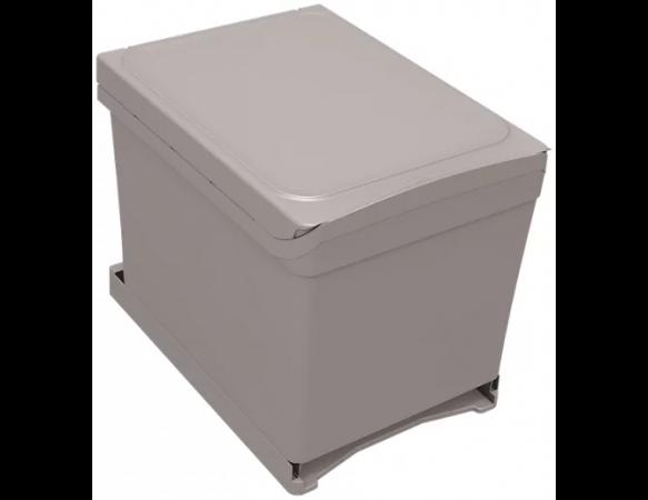 Cubo de basura en kit de 2 x 18 litros 34,3x37, 2 cm