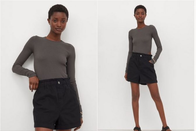Pantalón corto de sarga- H&M