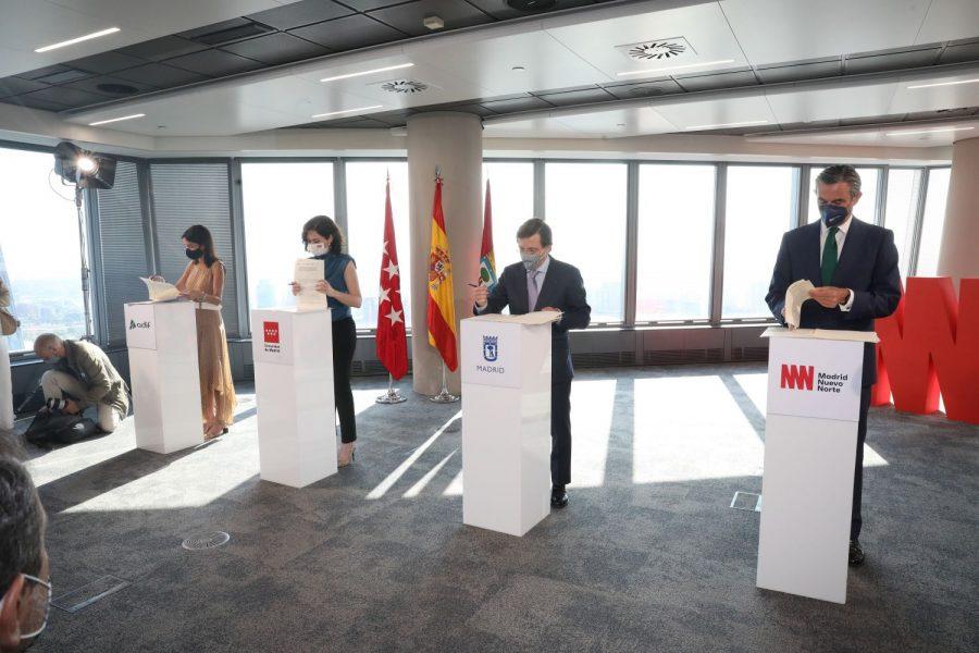 Madrid Nuevo Norte avanza en su desbloqueo tras la firma del Convenio Marco
