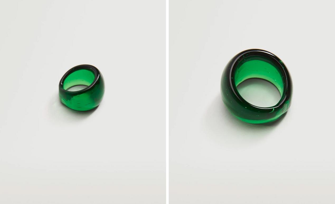anillo de cristal de Mango