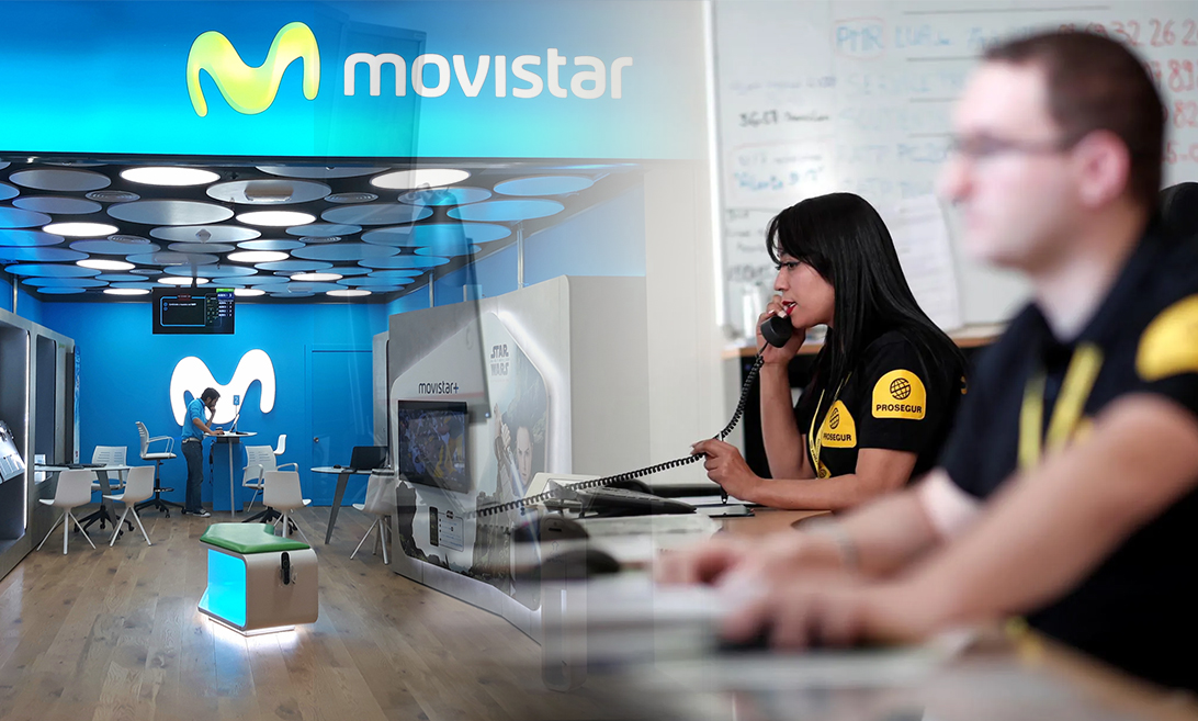 Telefónica lanza la instalación de alarmas con Prosegur: objetivo, un millón