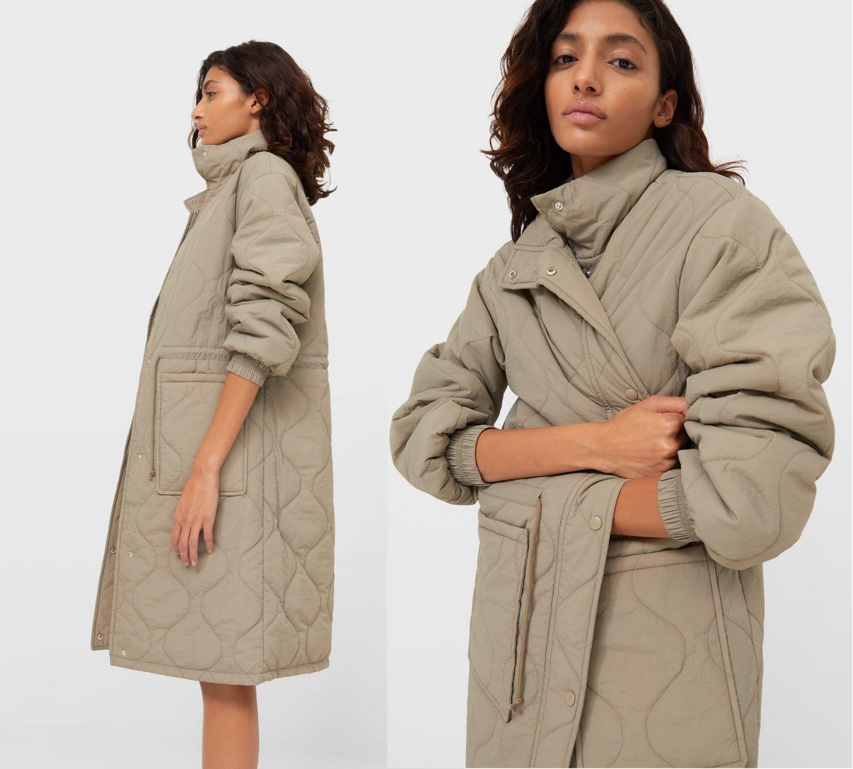 abrigo sencillo Stradivarius