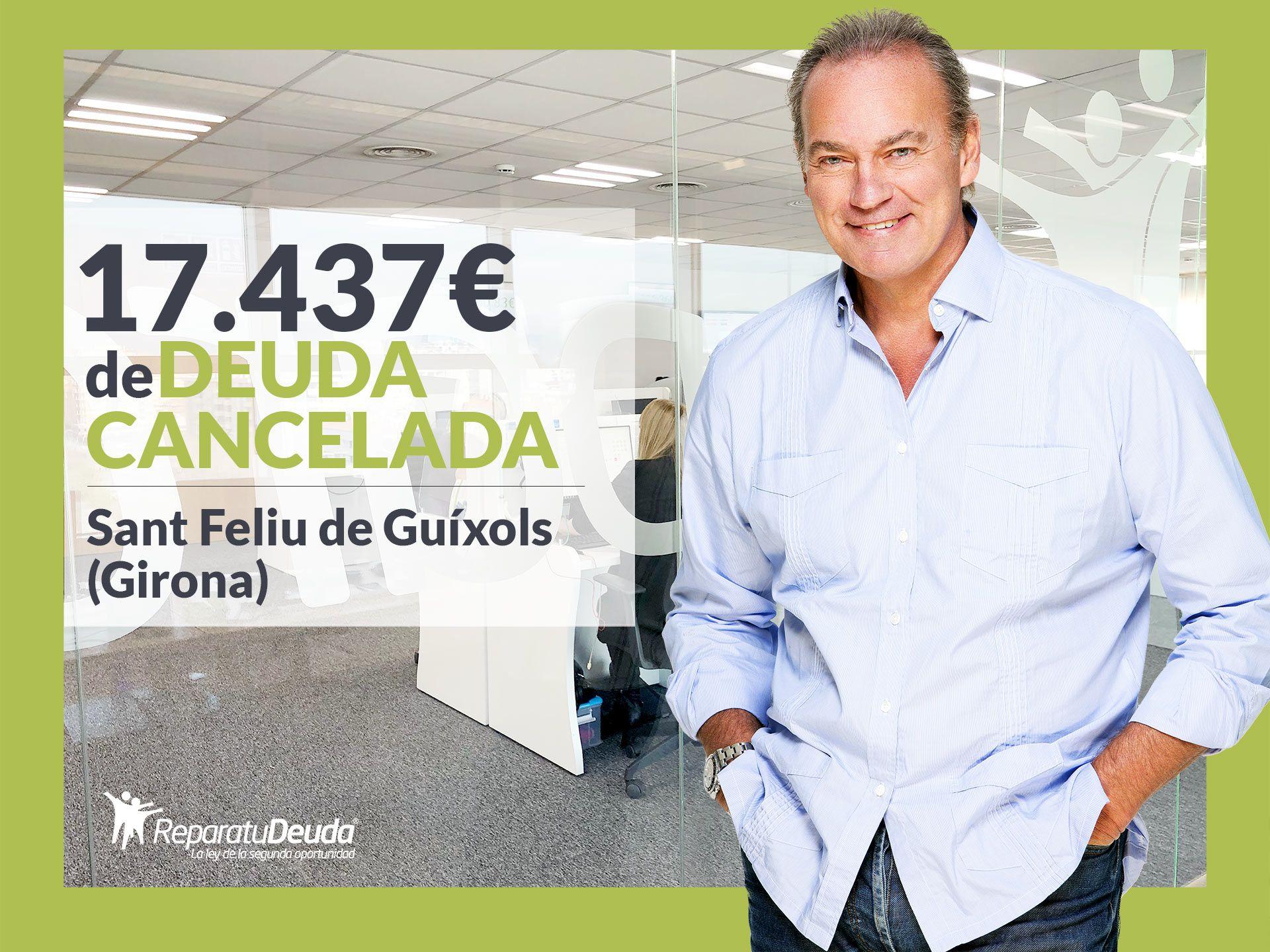 Repara tu Deuda cancela 17.437€ en Sant Feliu de Guíxols (Girona) con la Ley de Segunda Oportunidad