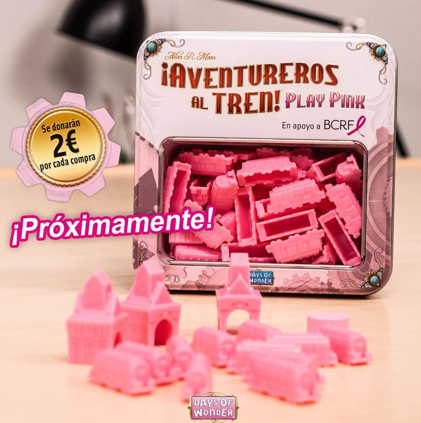 El juego Aventureros al Tren Play Pink destinará sus beneficios a la investigación del cáncer de mama